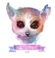 set of watercolor Cute lemur vector image