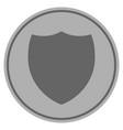 shield silver coin vector image vector image