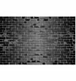shiny black brick wall vector image