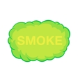 Smoke cloud icon in cartoon style vector image