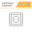 socket line icon vector image