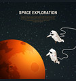space exploration background vector image vector image