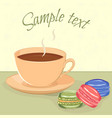tea and macaroons vector image