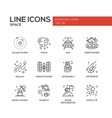 The Space - line design icons set vector image