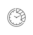 time period line outline icon vector image