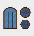 type house windows element isolated flat style vector image vector image