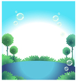 Water blue sky vector image vector image