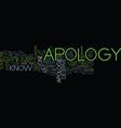 you deserve an apology a true apology text vector image vector image