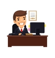 Boss Sitting at His Desk vector image