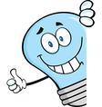 Light bulb thumbs up vector image