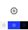 abstract circle with dots minimalism logo vector image