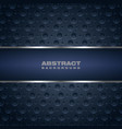 abstract dark blue banner vector image