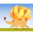 Autumn hedgehog vector | Price: 1 Credit (USD $1)