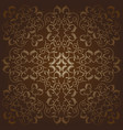 background baroque with flowers vector image vector image