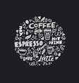 black and white coffee concept vector image
