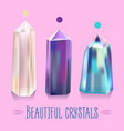 bright beautiful shiny crystals vector image vector image