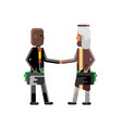 business meeting arabic and african businessmen vector image