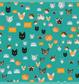 cats cute animal seamless vector image