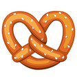 colorful cartoon pretzel with sesame seed vector image