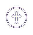 communion wafer line design vector image vector image
