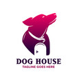 dog house logo design template vector image