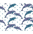 dolphins pattern spring summer backgrounds vector image