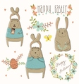 Easter concept set in vector image