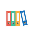file folder icon binder vector image vector image