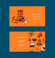 flat style china elements business card vector image vector image
