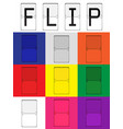 flip board color set vector image