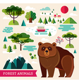 Forest animals - bear vector image vector image