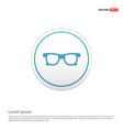 glasses icon - white circle button vector image