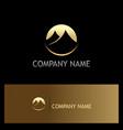 gold mountain icon logo vector image