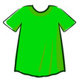 green man shirt on white background vector image vector image