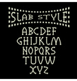 grunge slab style alphabet vector image vector image
