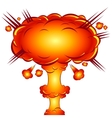 in the style of a comic explosion the atomic bomb vector image