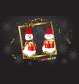 luxury elegant merry christmas - happy new year vector image vector image