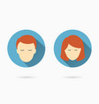 male and female face icons for graphic and web vector image