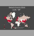 mapping coronavirus outbreak infographic vector image