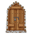 Medieval style of window vector image