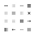 menu and ui icons set vector image