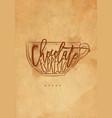 mocha cup craft vector image vector image