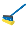 Mop for cleaning windows icon vector image