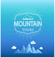 mountain emblem in polygon style vector image