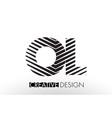 ol o l lines letter design with creative elegant vector image vector image