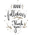 one thousand followers vector image