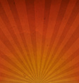Orange Vintage Sunburst Cardboard Paper vector image