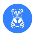 Panda icon black Singe animal icon from the big vector image vector image