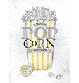 Poster popcorn butter vector image