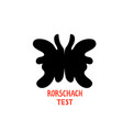 psychology rorschach test psychotherapy and vector image vector image